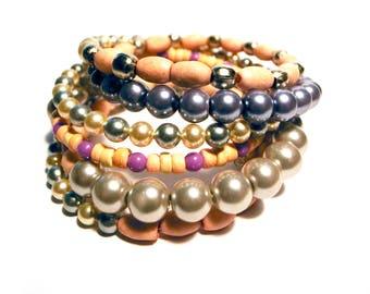 Bracelet Spiral bangle memory-wire Bracelet