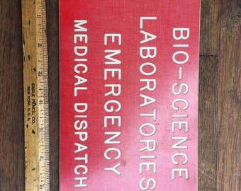 Vintage Lab sign.