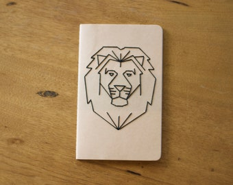 Large Moleskine Journal with Lion Embroidery