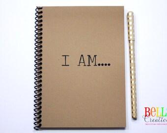 I AM.... Kraft Blank Journal