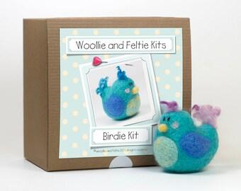 Bird Needle Felting Kit-Felting gift-Needle Felting Kit-Woollie and Feltie Kit,
