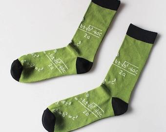 Mens Math Socks | Colorful Socks| Gift for Men | Cool Socks | Funky Socks | Patterned Socks