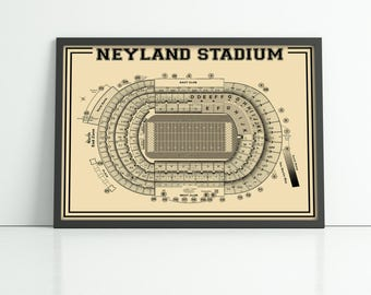 Vintage Style Print of Neyland Stadium on Photo Paper, Matte Paper, or Stretched Canvas.