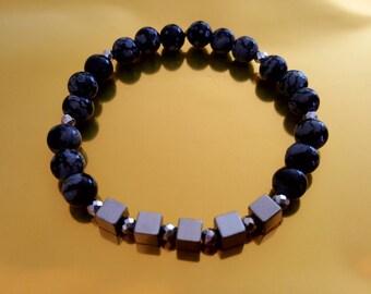 Eugenie Obsidian bracelet