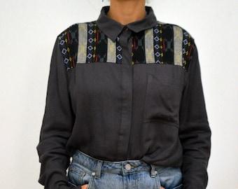 Ethnic pattern shirt