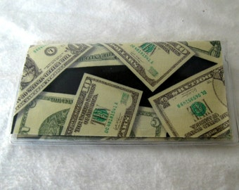 Checkbook Cover Money Cash Holder Works with Duplicate Checks