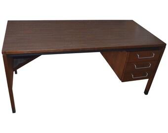 Midcentury Walnut Desk Designed by Jens Risom
