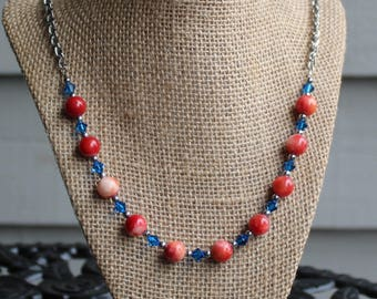 SALE:Red White & Blue Necklace (long)