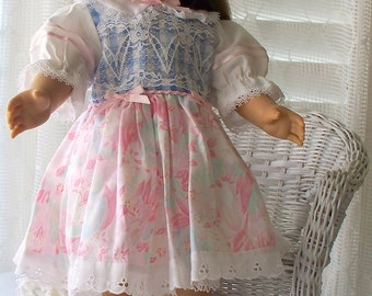 Handmade Doll Dress or Clothes Floral print Fits 18 inch dolls