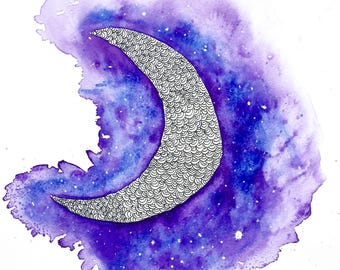 Moon Galaxy 8x10 print