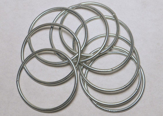 2 Inch Welded Steel O Rings Nickel Plated 12 pieces from ...