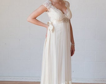 Discount week ! Bohemian Queen Anne Style Wedding Dress with pictures, 350 Usd