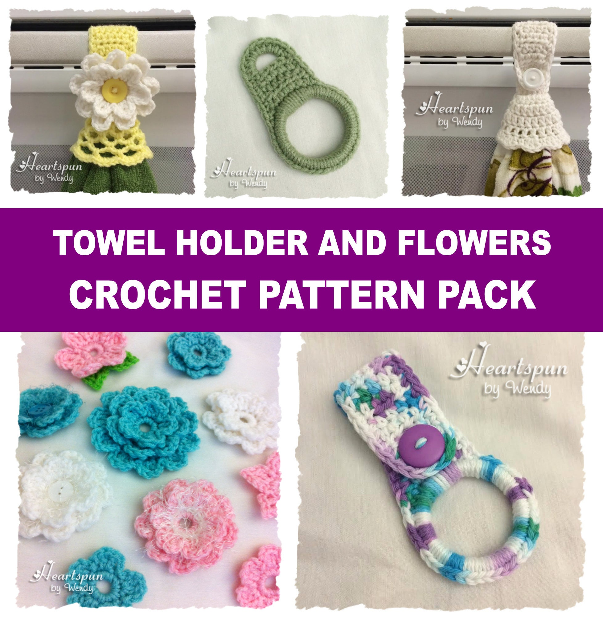 CROCHET PATTERN to make a towel ring for hand towels or dish towels ...