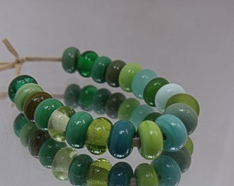 Hedgerow Mix, Lampwork Spacer Beads, SRA, UK