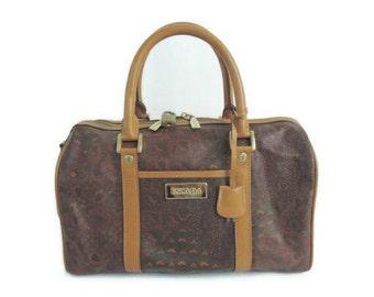 Escada vintage bag with lock key and strap