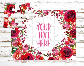 Create Your Own Puzzle - Pregnancy Announcement - Custom Puzzle - Personalized Puzzle - Announcement Ideas - Wedding Announcement - CYOP0159