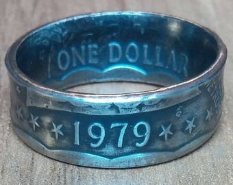 One Dollar Susan B Anthony Coin Ring