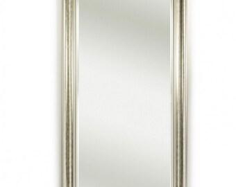 Miroir BERLIN SILVER XL Traditionnel Classique Rectangulaire Argenté 82x172 cm
