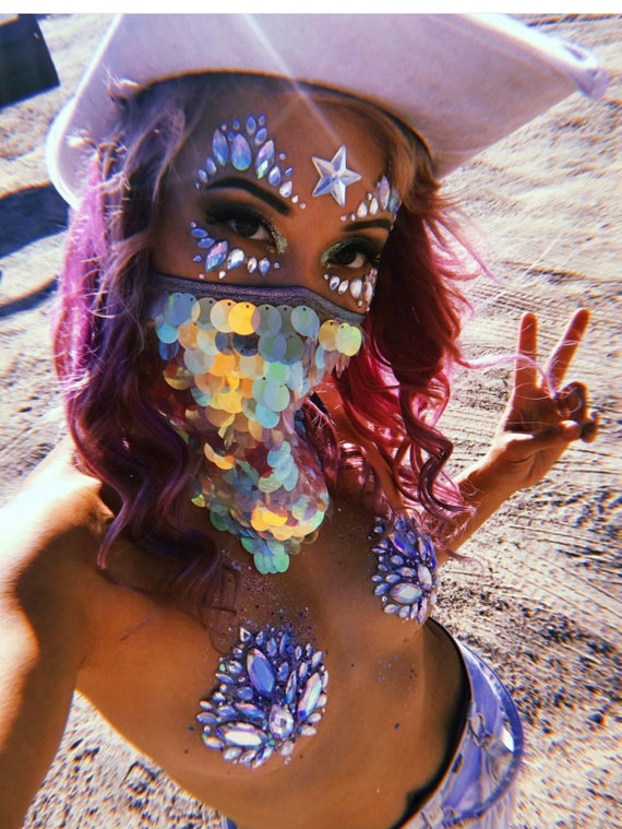 Star Dust Sequin Face Mask