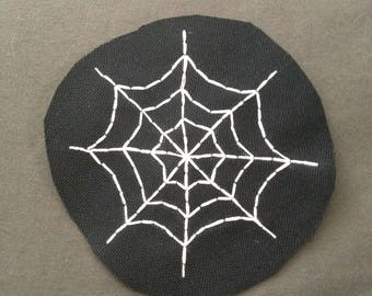 Spiderweb Hand Embroidered Patch
