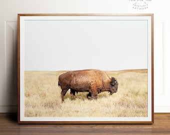 Bison print, Bison art, PRINTABLE art, Landscape print, Landscape photography, Animal print, Buffalo print, Buffalo art, Photography prints