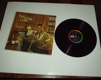 """1950's Capital Records NAT KING COLE """"Tell Me All About Yourself"""" Vinyl Record Album with Music of Dave Cavanaugh - Rare"""