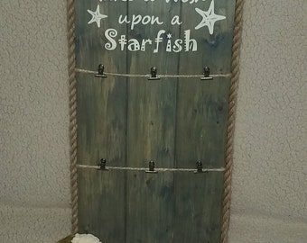Make A Wish Upon a Starfish Rustic Picture Frame