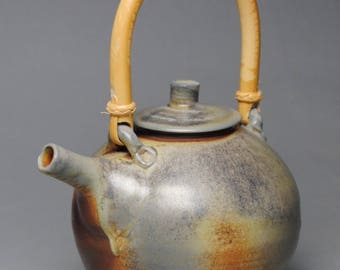 Wood Fired Teapot with Cane Handle G67
