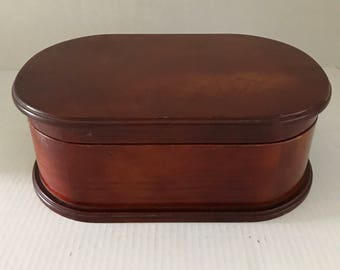 Vintage Wooden Jewelry Box