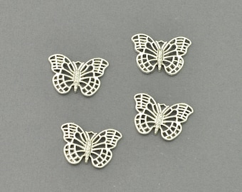 Antique Silver Tone Butterfly Charm (AS00-0020)