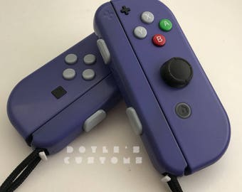 Gamecube inspired joycon controllers in indigo