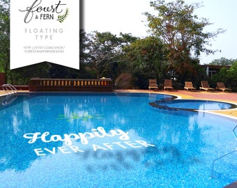 FLOATING Letters Pool Decor -- Logos, monograms, words and symbols!