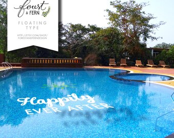 FLOATING Letters Pool Decor    Logos, Monograms, Words And Symbols!