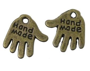 Hand made pendant - hands - 20 piece