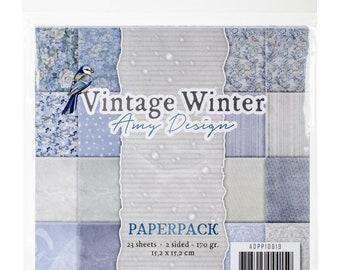 Vintage Winter, 6 x 6 Paper Pack, Scrapbooking, Card Making,  Mixed Media, Mini Album