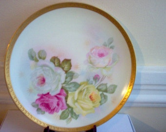 H and Co Bavaria Roses Plate