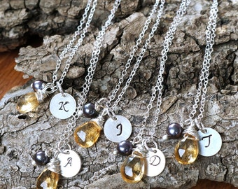f o r e v e r   f r i e n d s . . . .   bridesmaid necklaces- sterling silver customized bridesmaid necklaces