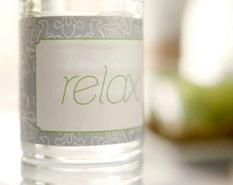 Spa Party Printable Water Bottle Labels