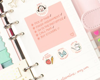 CoCo Don't Forget Planner Stickers