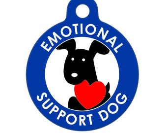 Pet ID Tag - Emotional Support Dog Medical ID Tag - Medical Alert Tag, Pet Tag, Child ID Tag, Dog Tag, Cat Tag