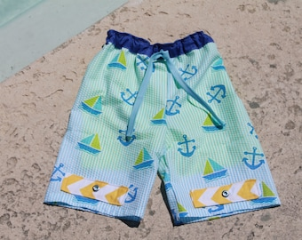 Boys Swim Suit PDF sewing pattern, swim trunks, swim trunks pattern, boys sewing patterns, swim, trunks, PDF pattern, boys swim suit