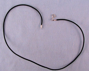 Leather Neckcord with Clasp for Pendants