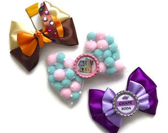 Up Disney Inspired Pixar Up House, Russell, & Grape Soda Hair Bow