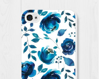 iPhone 7 Case Floral iPhone Se Case iPhone 5 Case iPhone 8 Case Navy Blue Floral Phone Case iPhone 6 Case iPhone 6 Plus Case Galaxy S6 Case