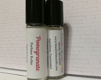 Pomegranate Scented Perfume Roller, Roll-On Perfume, Perfume Oil