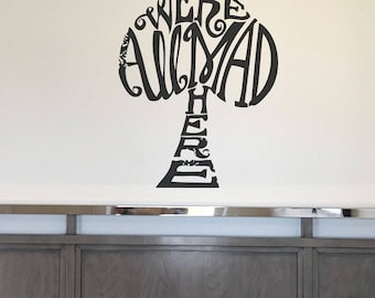 We're all mad here Alice in Wonderland Disney decal wall sticker home decor CT201