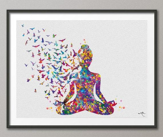 Yoga Art Yogi Yoga Poster Yoga Pose Yoga Print Yoga Woman