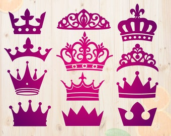 Crowns Svg, Crown Cut files, Crowns silhouette, Crowns Dxf,  Crowns vectors, Crown clipart, cutting files for Cricut or Silhouette cameo
