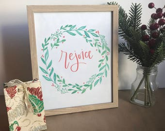 Rejoice Christmas Wreath