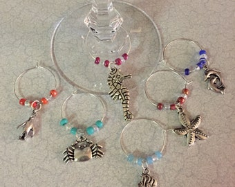 Sea Creature Wine Glass Charms